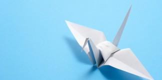 Origami ždral